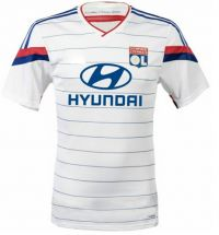 Olympique Lyonnais 2014-15 season Home White Jersey