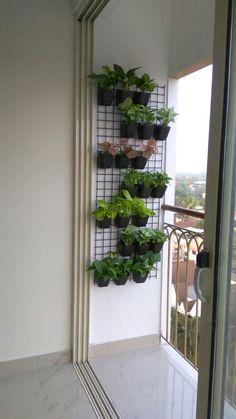 balcony garden grill design - balcony garden grill design How do I organize my balcony plants? Small Balcony Decor, Small Balcony Garden, Small Balcony Design, Balcony Plants, House Plants Decor, Plant Decor, Outdoor Balcony, Balcony Gardening, Small Balconies