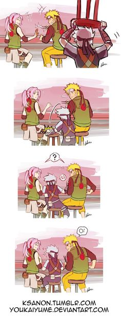 Omg that's just hilarious!! They could've put Rin and obito in Sakura's and Naruto's place thought XD