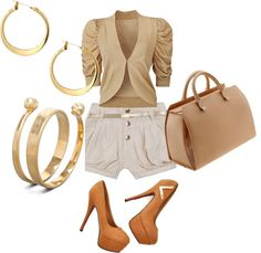 """Out With the Girls"" by pretty-shorty on Polyvore"