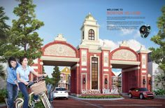 Gate Rumah Cluster Boston Village Gading Serpong