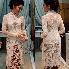 simple but ellegant Kebaya Modern Hijab, Model Kebaya Modern, Kebaya Hijab, Kebaya Dress, Batik Kebaya, Kebaya Muslim, Batik Dress, Dress Brokat, Neutral Formal Dresses