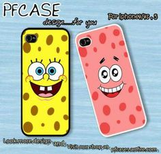 Spongebob and Patrick Star Face Case For Iphone 45Samsung S234 by pfcase on Zibbet