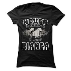 #Sportst-shirt... Cool T-shirts  Worth :$22.25Purchase Now  Low cost Codes View pictures & photographs of Never Underestimate The Power Of ... BIANCA - 999 Cool Name Shirt ! t-shirts & hoodies:In the event you don't completely love our design, you'll be able....