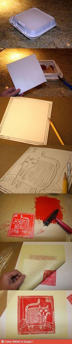 Styrofoam printing!
