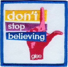 Glee Don't Stop Believing Embroidered Iron On by CoolPatches