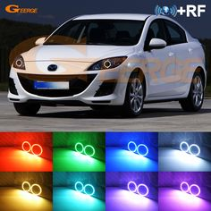 Mazda 3 Hatchback, Bluetooth, Led Angel Eyes, Cheap Cars, Car Lights, Kit, China, Free Shipping, Color