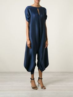 Issey Miyake Pleated Oversized Jumpsuit - Entrance - Farfetch.com