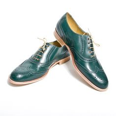 Oxford Shoes Men's Green, 172€, now featured on Fab.
