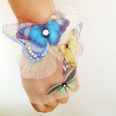 NEW Fluttery Butterflies Finger less Glove by jewelera on Etsy8486