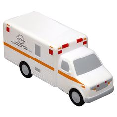Ambulance Stress Reliever #LCC-AM39 Ambulance shape stress reliever will not only alleviate stress but with your logo and a few health/emergency tips you can keep them informed on important safety rules and regulations. This is a perfect gift or giveaway at any event or fundraiser! Safety tested and intended for adults or for general use by consumers of all ages. Not intended for children under three years old or for pets.