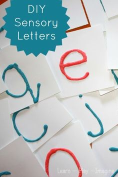 DIY Montessori inspired sensory letters to help children learn correct letter formation.