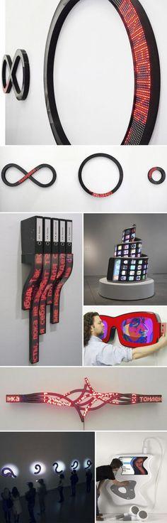 New Media Sculptures . Aristarkh Chernyshev #art #media #newmedia #concept #installation