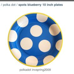 Cookie monster party plates