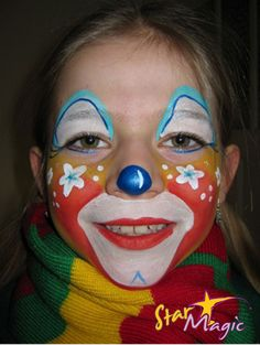 Image Search Results for clown Diy Face Paint, Clown Faces, Star Magic, Too Faced, Happy Colors, Just For Fun, Halloween Make Up, Face Art, Face And Body