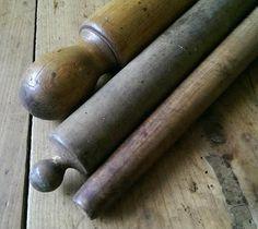Antique 19thC ROLLING PIN COLLECTION OF THREE AAFA Folk Art Primitive Hearth #NaivePrimitive
