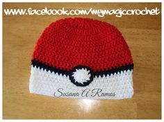 PokeBall Crochet Hat https://www.etsy.com/your/shops/MyMagicCrochetUS