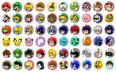 Super Smash Bros Series Characters by SuperLakitu.deviantart.com on @deviantART