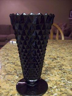 Vintage Black Milk Glass Vase