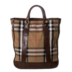 Burberry Vintage Washed Check Tote Bag