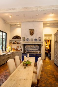 Tuscan Villa Style Home Inspired by Italian Classicism - Kitchen by Brian O'Keefe Architect - Lookbook - Dering Hall