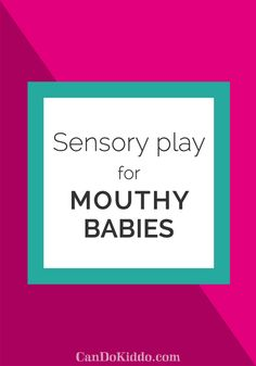 Sensory Play for babies who put everything in the mouth   CanDo Kiddo Sensory Bags, Sensory Activities, Infant Activities, Learning Activities, Baby Sensory Play, Baby Play, Baby Learning, Learning Time, Baby Development