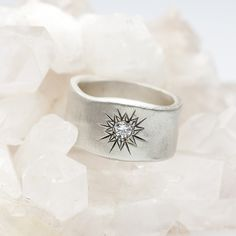 Sunburst Diamond Ring {Sterling Silver}..Have never wanted a diamond ring, but this one is a fabulous design