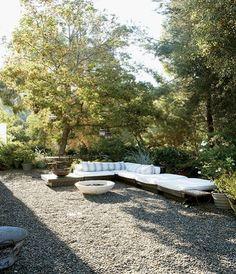 gravel patio area  House Crush: A Ranch House...