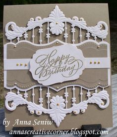 A Peek Inside The Creative Corner: Elegant Birthday Card