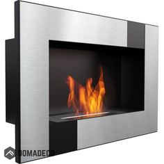 Dallas black horizontal wall mounted bioethanol fireplace modern style fireplace/elegant portable fireplace silver for your home Bioethanol Fireplace, Modern Fireplace, Fire Inserts, Portal, Dallas Black, Bio Ethanol, Portable Fireplace, Wall Mounted Fireplace, External Doors