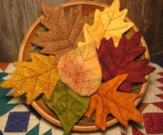 EPATTERN -- Primitive Fall Leaves Tucks Ornies Bowl Fillers by OldeAnniePrimitives on Etsy https://www.etsy.com/listing/78646605/epattern-primitive-fall-leaves-tucks