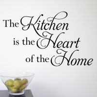 The Kitchen is the Heart of the Home  Great wall sticker from £8.99