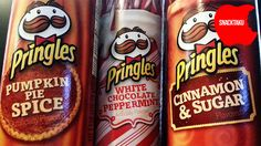 Pringles Pumpkin Spice, Cinnamon Sugar and White Chocolate Peppermint