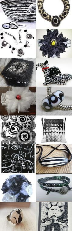 The Coolest Designs  by Clemmie Sheffield on Etsy- #etsy #treasury #black and #white #basket #bowl #cat #bed #black #pet #bed #summer #trends -Pinned with TreasuryPin.com