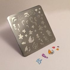 Clear Jelly Stamper Stamping Plate - Mermaid Doodle #2