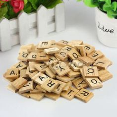 100-Wooden-Alphabet-Scrabble-Tiles-Black-Letters-Numbers-For-Crafts-Wood-DIP