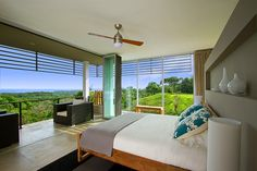 Great view of the jungle, mountains, and the Pacific Ocean. (Tierra, an eco-luxury villa in Guanacaste, Costa Rica)