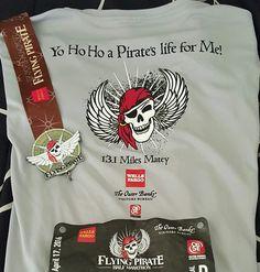 Flying Pirate Half Marathon in Nags Head - Outer Banks, North Carolina - 2016 bling photos - half marathon medal photos by Fifty States Half Marathon Club members www.50stateshalfmarathonclub.com
