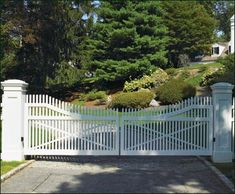 Cellular Vinyl Steel Framed Entrance Gate   Entrance Gates, Wood Gates, and more from Walpole Woodworkers