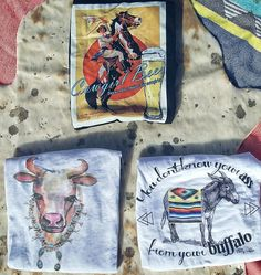 Cowgirl graphic tees from The Wacky Wagon.