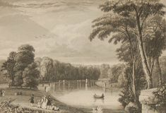 Antique print, Victorian, an engraving published in 1840 after a painting by J Sargeant titled View from the Bridge. The work was engraved by H Wallis. This print was part of a larger set published by R A Charlton and printed by W Sears in London. Wallis, Antique Prints, See Picture, Larger, Bridge, Victorian, London, Printed, Antiques