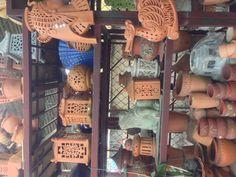 Terracotta lantern things!