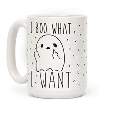 """Show off your spooky, ghostly independence with this """"I Boo What I Want"""" sassy…"""
