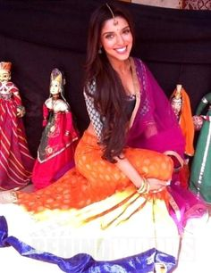 Asin gorgeous in colorful #Lehenga on the sets of 'Bol Bachchan' at Jaipur, 2012 | PINKVILLA