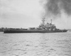 The battleship Washington in the Puget Sound on 26 April 1944