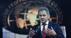 Ministro da Defesa russo Sergei Shoigu durante o Segundo festivalo da Sociedade geográfica russa