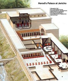 Reconstruction of one of King Herod's palaces at Jericho