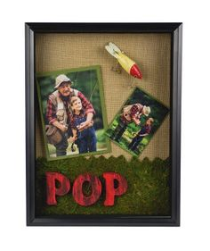 Father's Day POP Fishing Memories Shadow Box ( could really use your imagination with this one! Like my husband loves boating, golf, and just enjoying anytime with family. He's very funny and very animated so my pictures of him and the kids are great unfortunately there are hundreds. The hardest part, narrowing them down) Cute idea though!