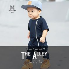 'The Alley' luxe zip tee the ultimate piece of street fashion featuring super rad finishes including asymmetrical hemline and silver side zipper  styled nicely over the softest cotton fabric out there  Available in Black and White  on sizes 0-6 years old  http://ift.tt/1TgQUwL #mischiefandco #monochromestyle #minimaliststyle #minimalistwardrobe #monochromefashion