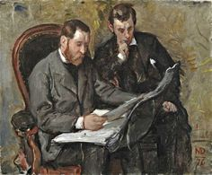 "Marcellin Gilbert Desboutin 1876 ""Les Amateurs de gravure"" Extraordinary People, Degas, Male Figure, Cubism, His Hands, Gravure, Art Forms, That Look, Fine Art"